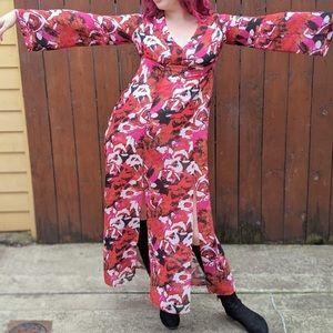 NORDSTROM LEITH FLORAL Print Maxi Dress, medium